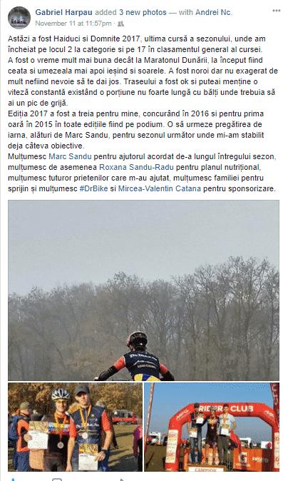 Testimonial Nutritie Sportiva: Gabriel