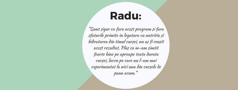 Testimonial Nutritie Sportiva: Radu