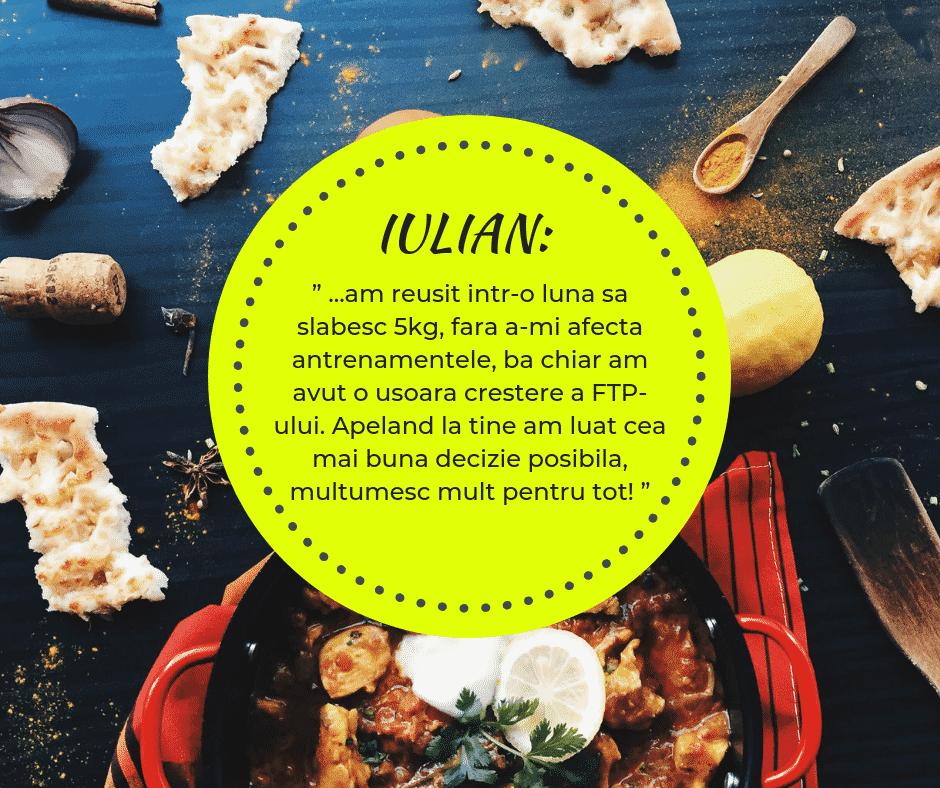 Testimonial nutritie sportiva: Iulian