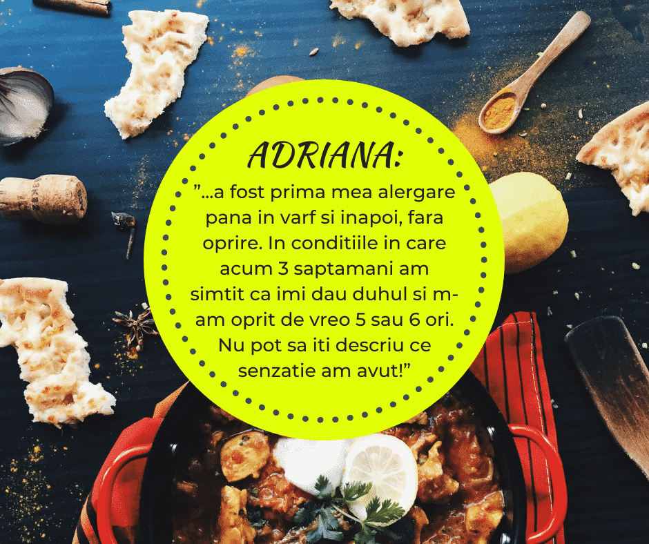 testimonial nutritie sportiva Adriana 2019