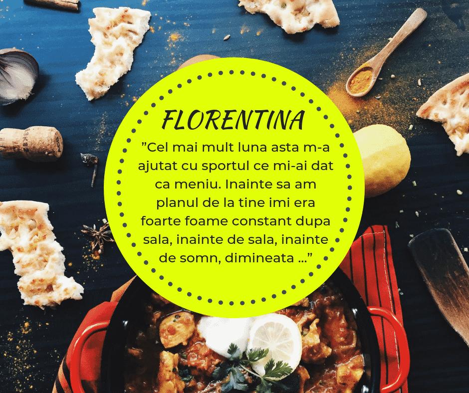 Testimonial nutritie sportiva: Florentina