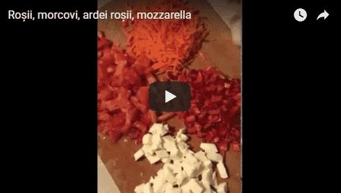 Roșii, ardei, morcov, mozzarella