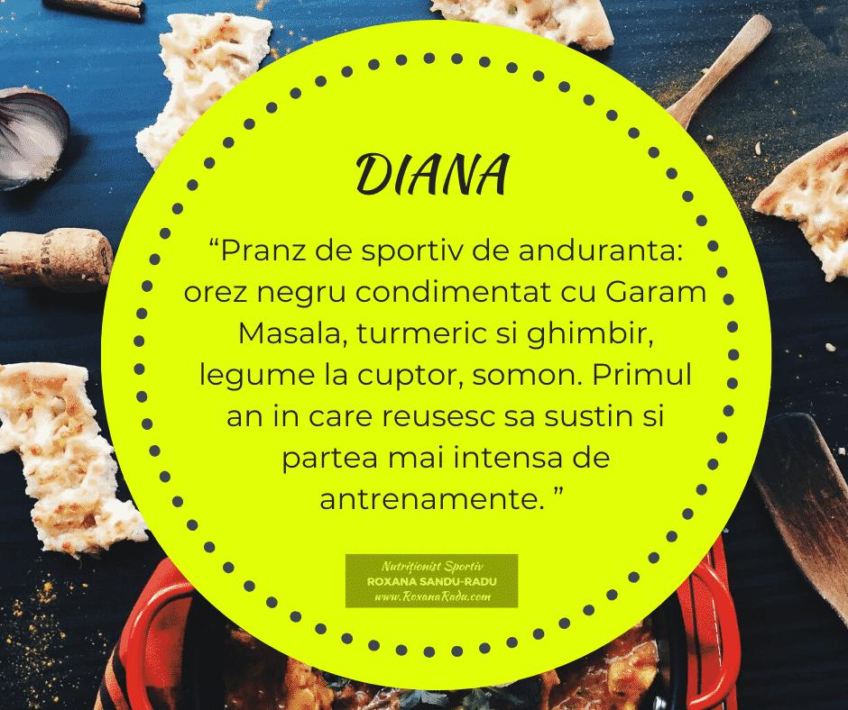 Testimonial Nutritie Sportiva: Diana Gal