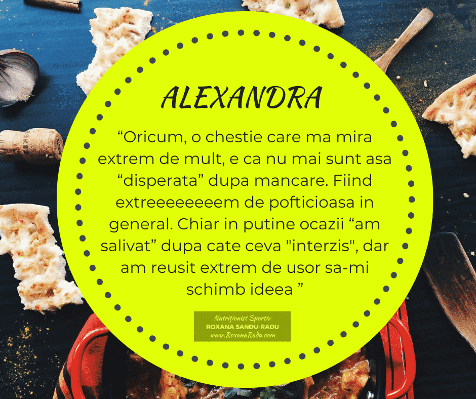 Testimonial nutritie: Alexandra