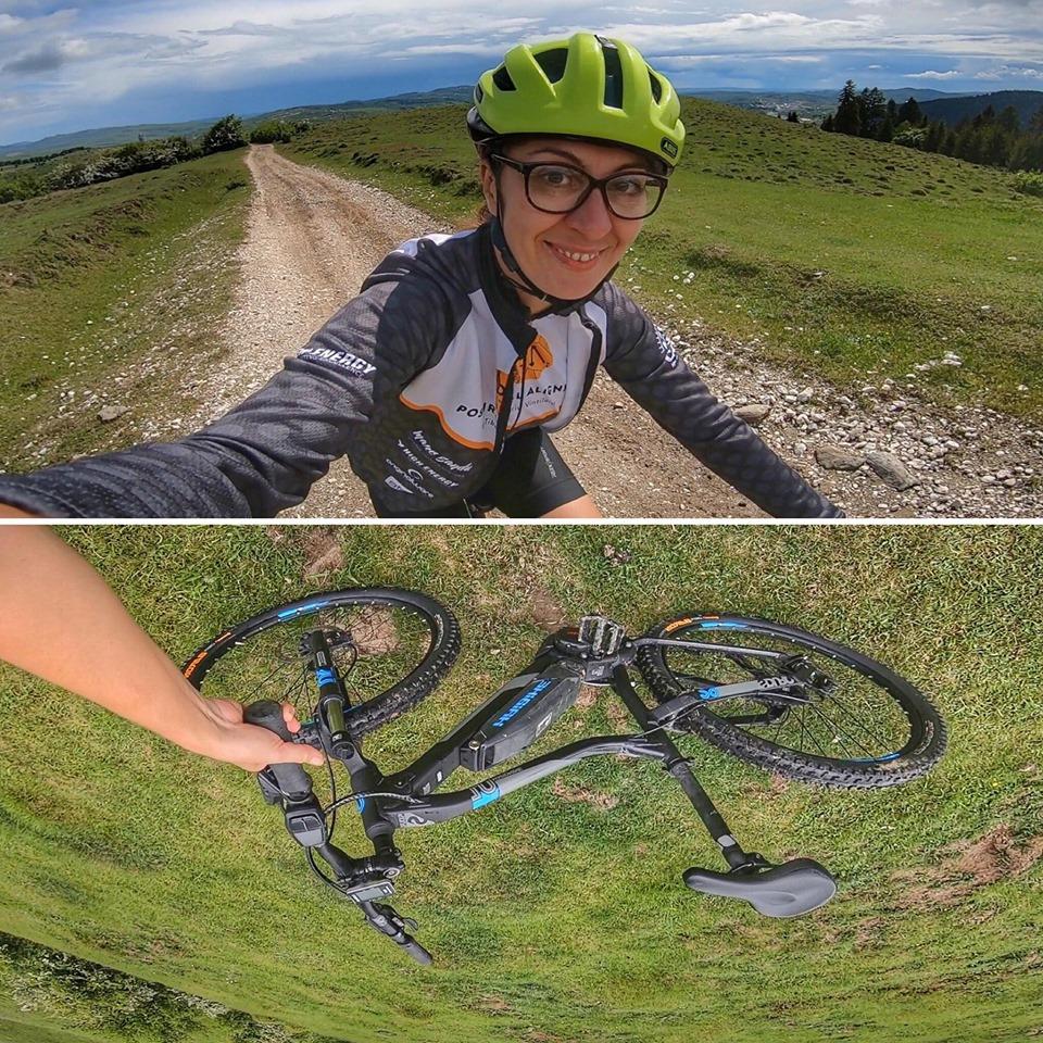 Cu bicicleta electrica la Campulung Muscel