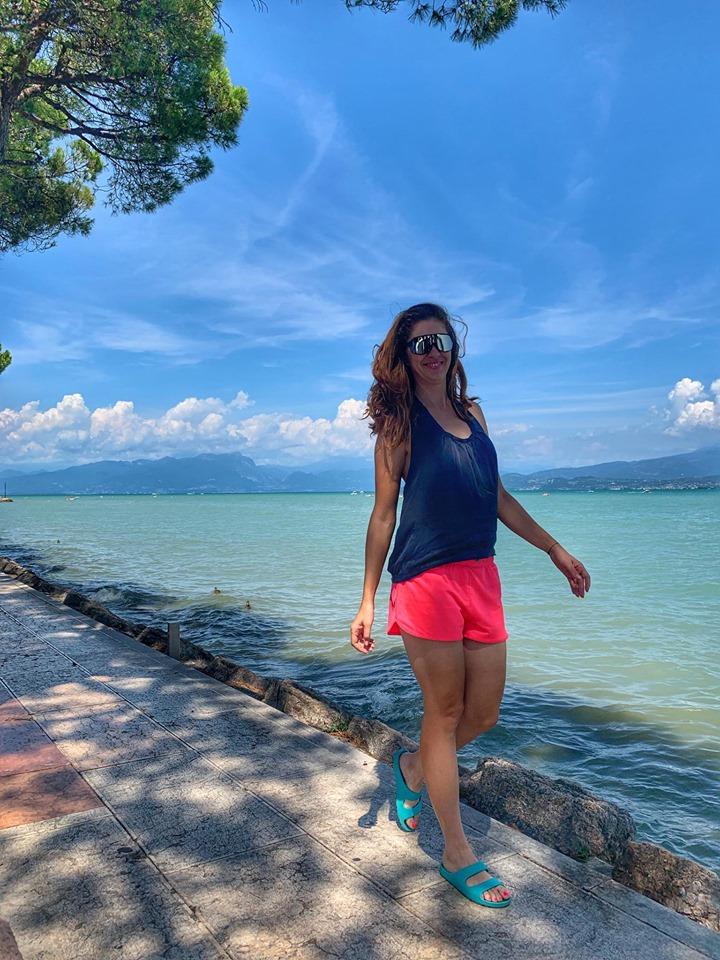 Pranz pe malul Lago di Garda si ciclism inainte de cina in Oulx, Italia