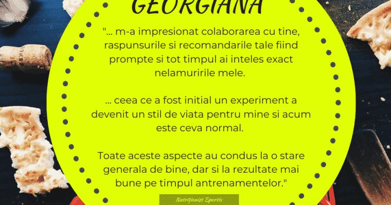 Testimonial nutritie sportiva: Georgiana