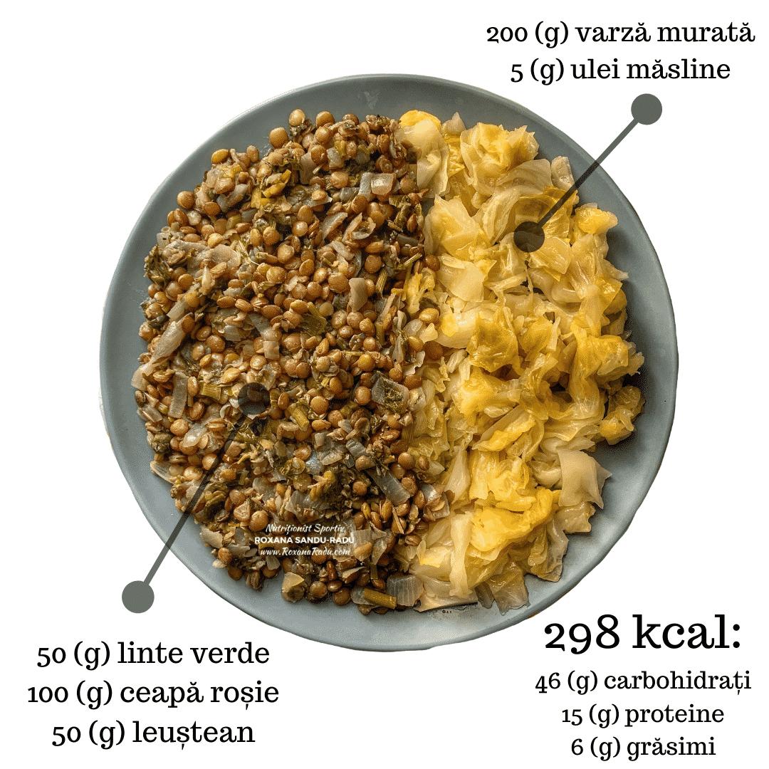 linte verde, leustean, varza murata, 298 kcal