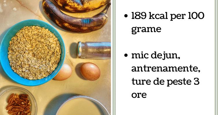 Reteta: budinca din cereale si banane