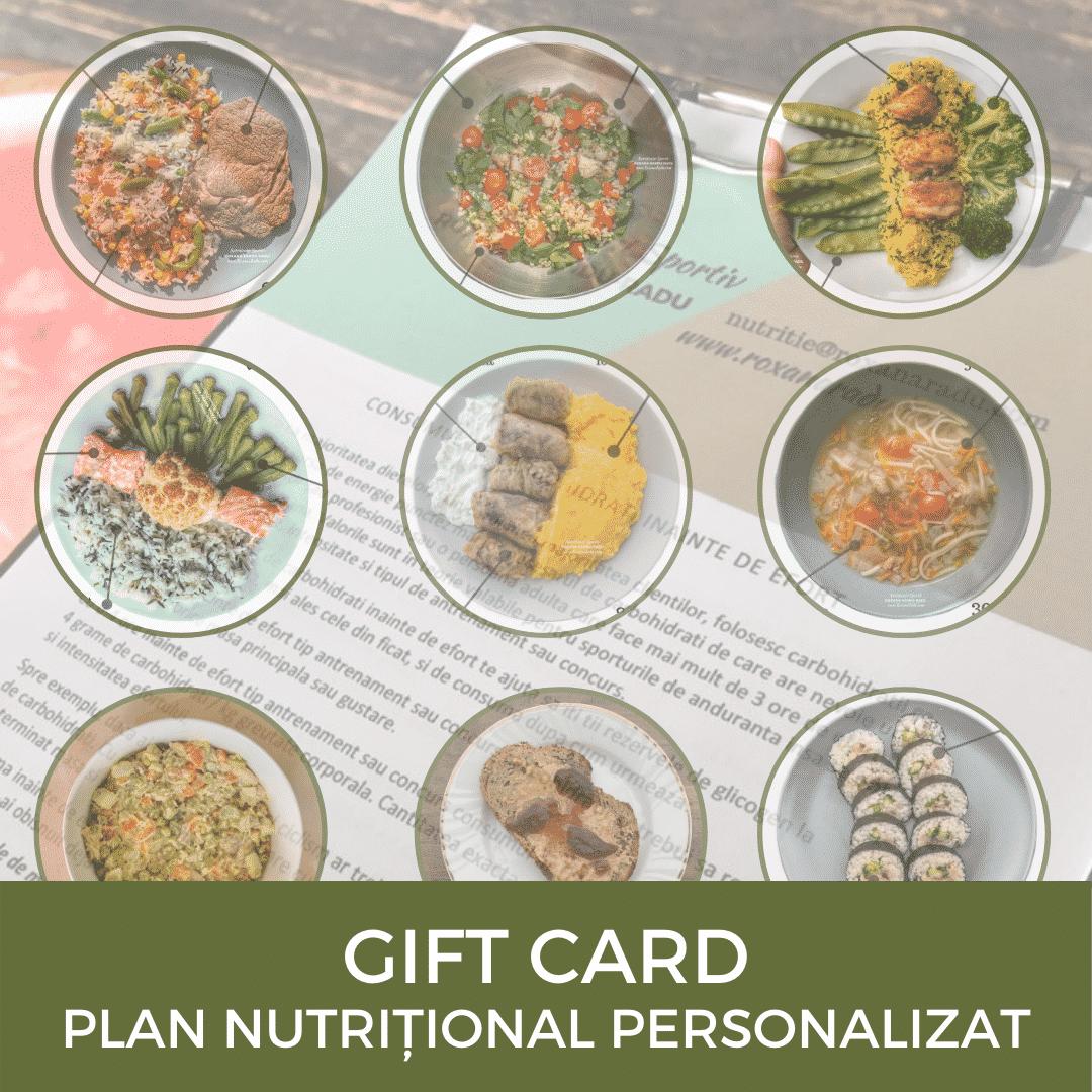 Gift Card Plan Nutritional Personalizat