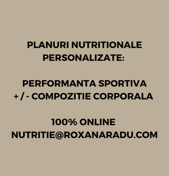 Nutritie Sportiva 100% ONLINE