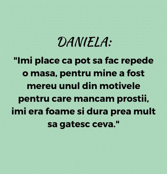 testimonial nutritie: Daniela