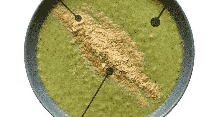 Supa crema de brocoli, 232 kcal
